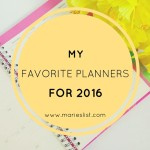 My Favorite Planners for 2016