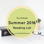 The Ultimate Summer 2016 Reading List